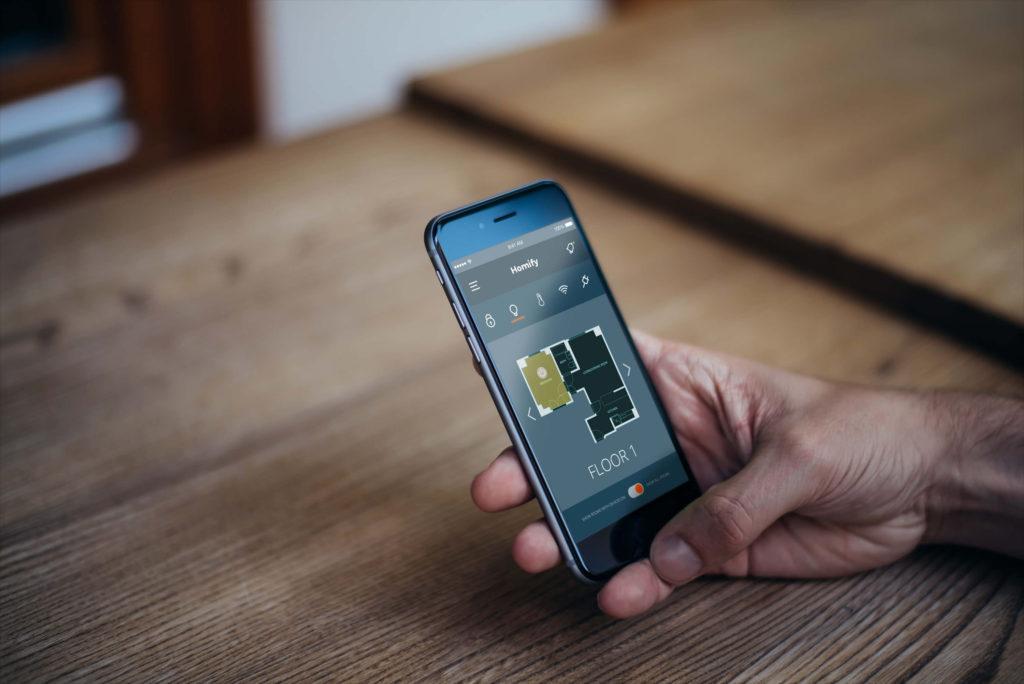 iphone floor plan smart home mockup