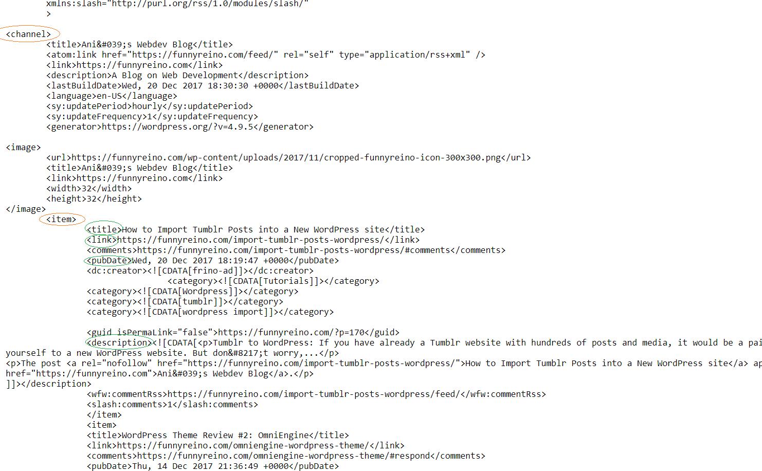rss source code